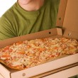 Pizza boy — Stock Photo