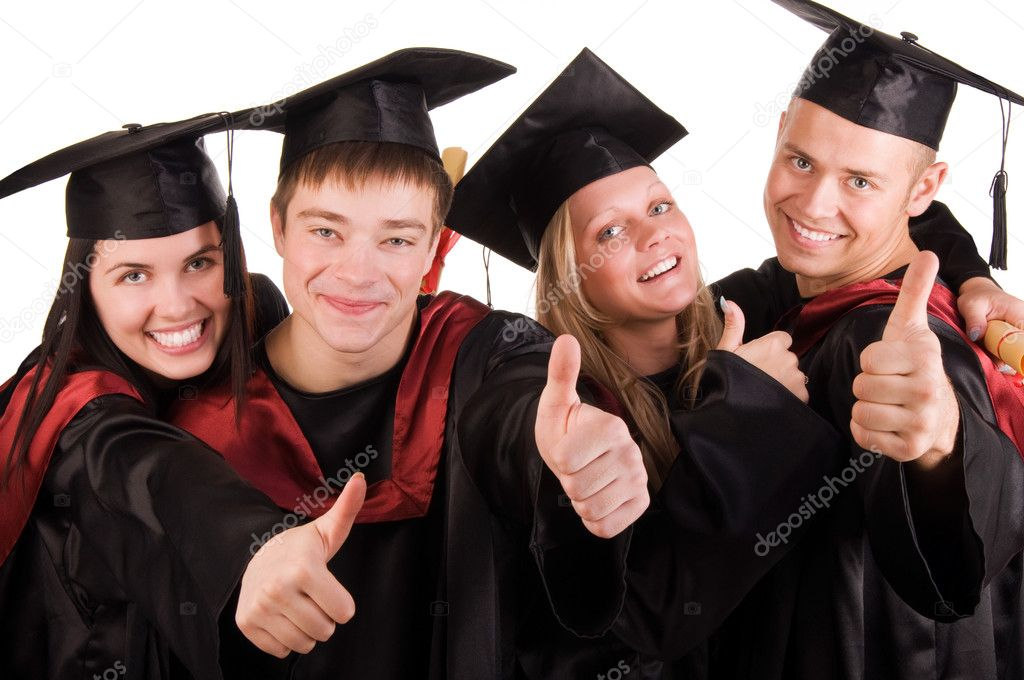 Group of happy graduated students — Stockfoto #1990992