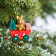 Vintage Christmas decoration — Stock Photo