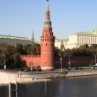 Kremlin tower, quay and river — Stock Photo #1644348