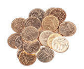 Scattering of coins close up — Stock Photo