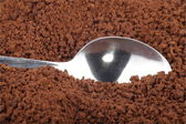Instant coffee and teaspoon — Stock Photo