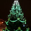 Toys on green christmas firtree — Foto de Stock