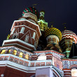 Blessed Basil cathedral at night — Stock Photo