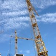 Two crane towers on sky background — Stock Photo #1708922