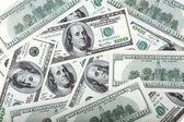 American dollars hundreds banknote — Stock Photo