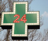 Medical drugstore signboard — Stock Photo