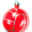One christmas firtree toy ball — Stock Photo