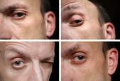 Four eye of man — Stock Photo