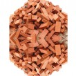 Royalty-Free Stock Photo: Heap of red brick  isolated