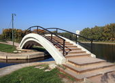 Bridge over pond — Stock Photo