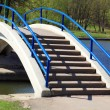 Stock Photo: Bridge over pond