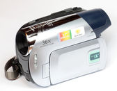 Minidv video camera camcorder — Stock Photo