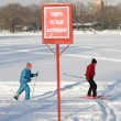 Stock Photo: Go skiing at winter day
