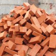 Heap of red brick — Stok fotoğraf