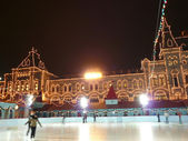 Skating-rink on red square in moscow — Stock Photo