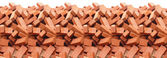 Heap of red brick isolated — Стоковое фото