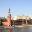 Kremlin tower, quay and river — Stock Photo #2523476