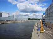Quay on river — Stock Photo