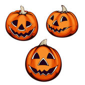 Set of three halloween pumpkin — Stock Vector