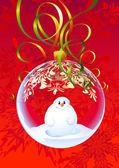 Xmas snowman — Stock Vector