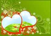 Background with valentins — Stock Vector