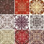 组的九个纹理 — 图库矢量图片