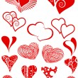 Stock Vector: Set of hearts