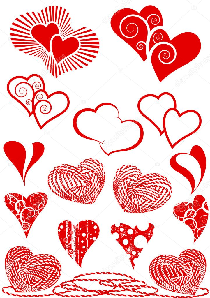Set of hearts — Stock Vector #2165763