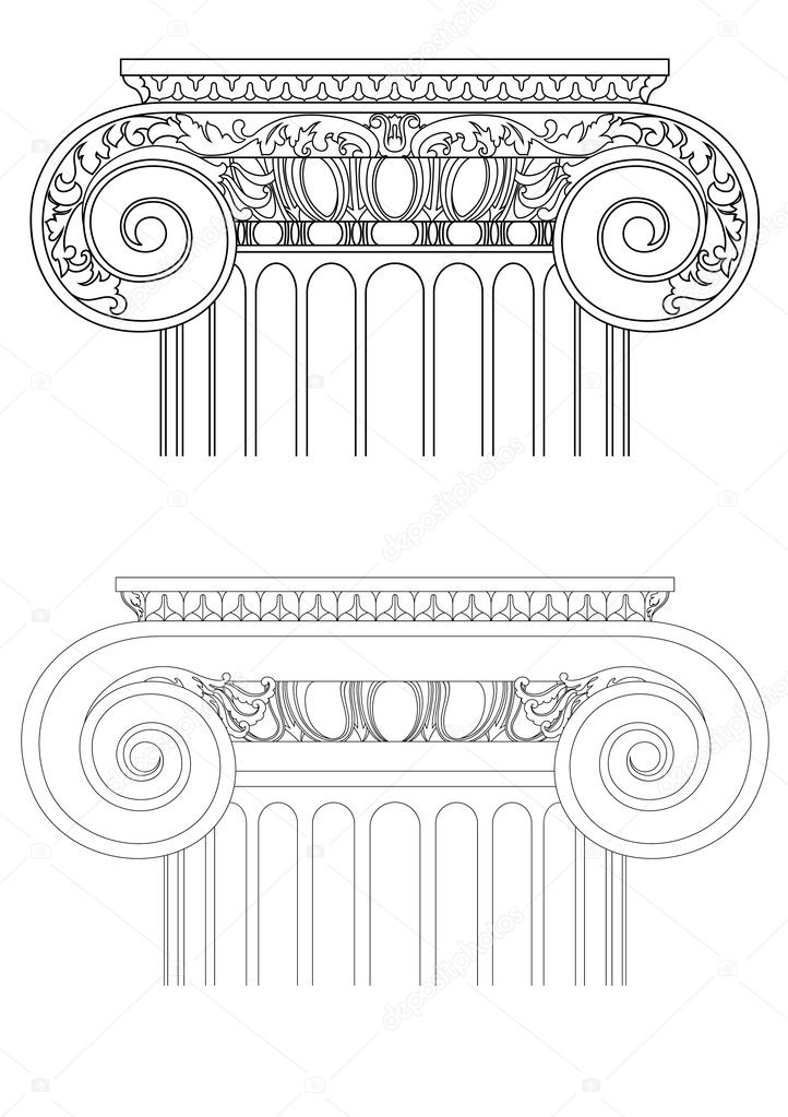 Architecture detail , vector classic column  Vettoriali Stock  #2634131