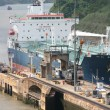 Stock Photo: Ship entering PanamCanal at Miraflores