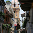 Narrow streets of Cartagena — Stock Photo
