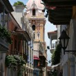 Narrow streets of Cartagena - Stock Photo