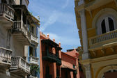 Colorful buildings in Cartagena — Stock Photo