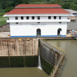 Stock Photo: Miraflores Locks in PanamCanal
