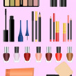 Professional make up set — Stockvectorbeeld