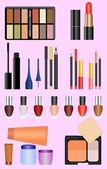 Professional make up set — Stock Vector