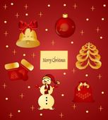 Christmas items — Vector de stock