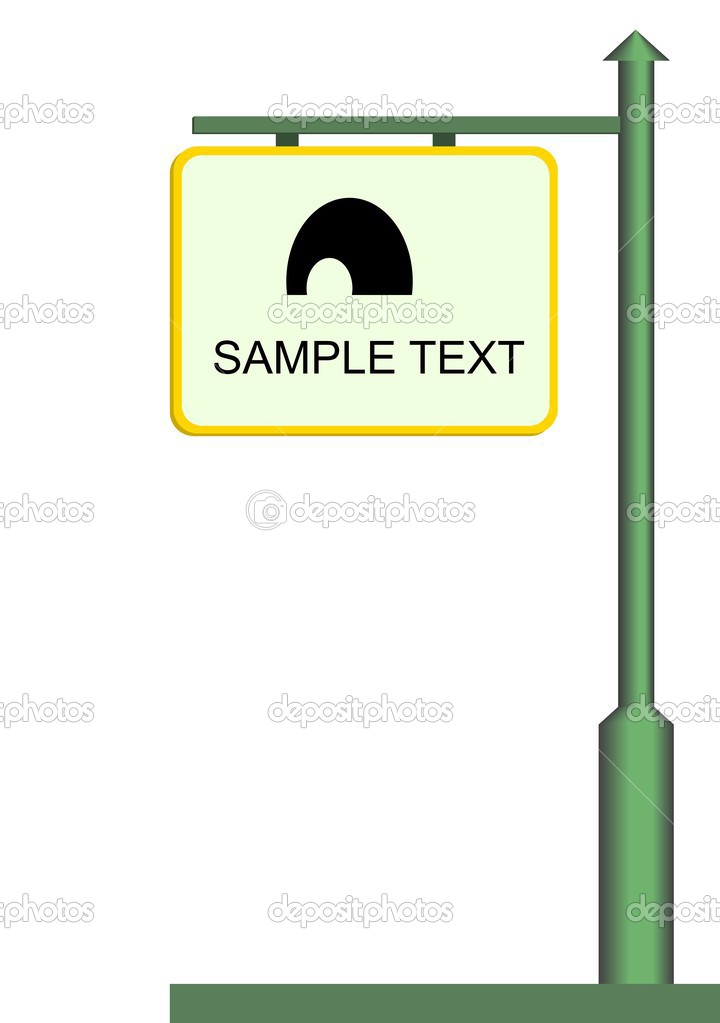 Street notice board - vector — Stock Vector #1710438