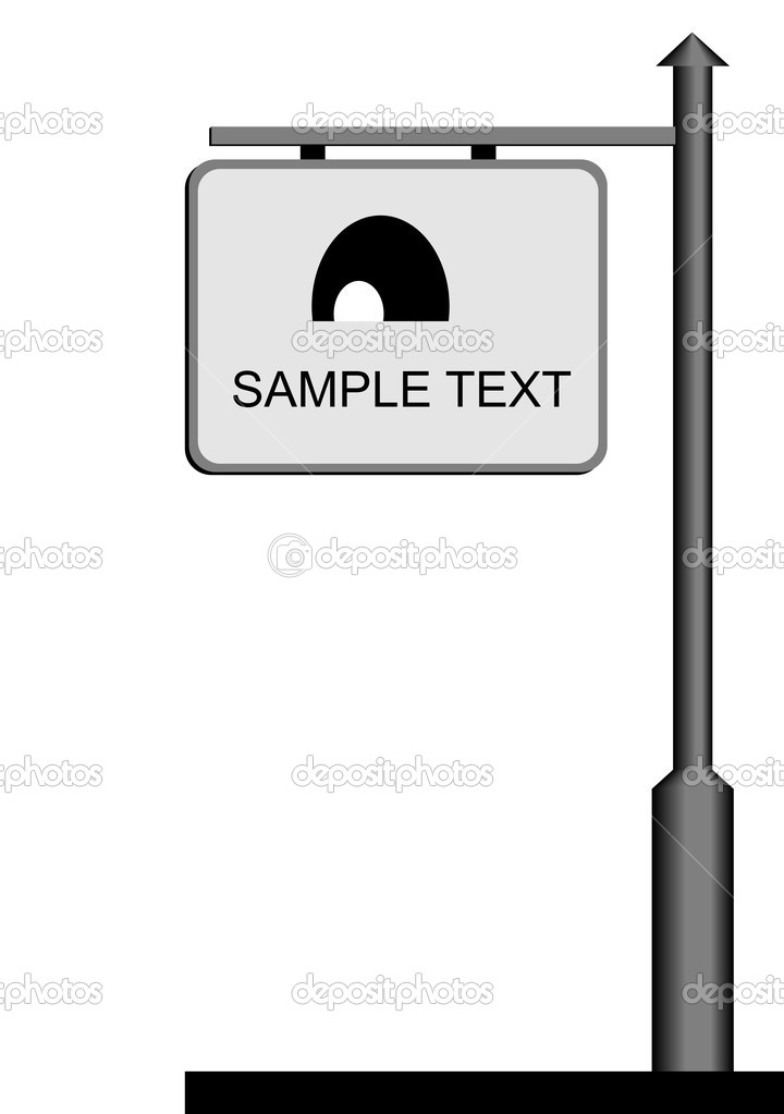 Street notice board - vector — Vettoriali Stock  #1710454