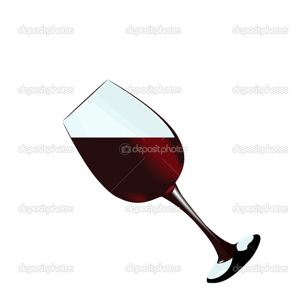 A glass of red wine of isolated on a white background. Vector — 图库矢量图片 #1801260