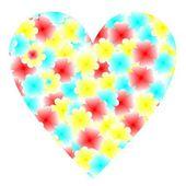 Illustration flowers heart for design — Stock Vector