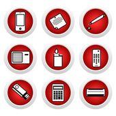 Icona set di elettrodomestici — Vettoriale Stock