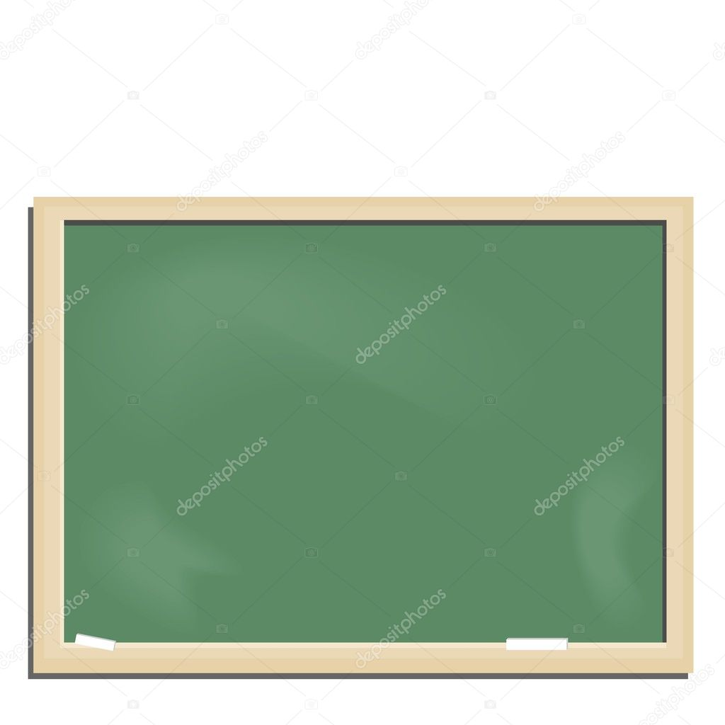 Realistic illustration school blackboard - vector — Stock Vector #2497208