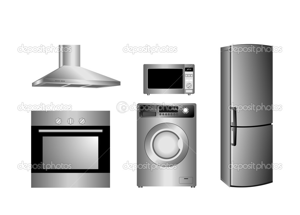 Vector detailed household appliances icons — Stock Vector #2497938