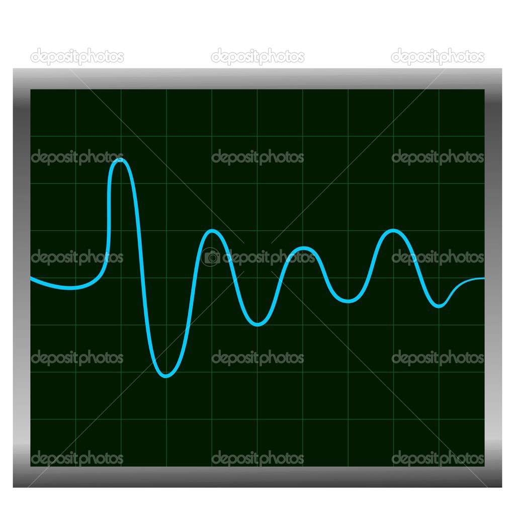Normal ECG (electronic cardiogram) blue. Vector — Stock Vector #2497974
