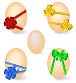 Set by Easter eggs — Stock Vector