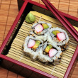 Sushi California rolls in a box. — Stock Photo #1691513