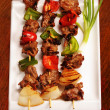 Stock Photo: Juicy shish kabob