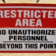 Stock Photo: Restricted Area